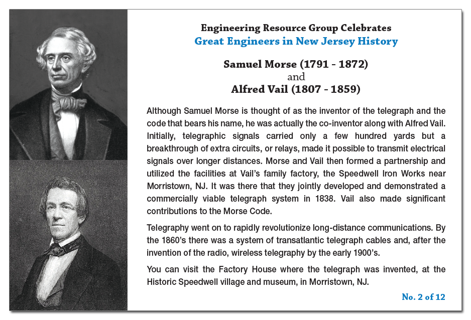 Samuel Morse and Alfred Vail