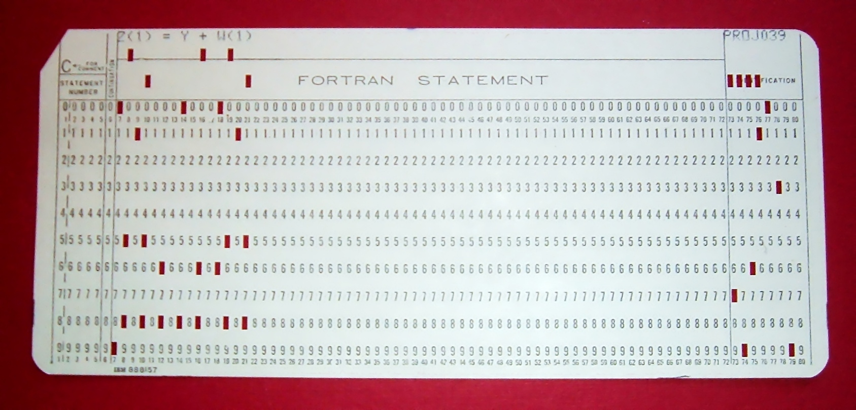 IBM Punchcard